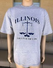 Vintage Illinois College of Law T Shirt Taylor Pro Series USA Made Size XL