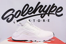 NIKE WOMENS AIR HUARACHE RUN ULTRA WHITE BLACK 819151 102 SZ 5