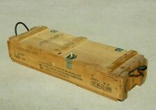 Vintage US Military Howitzer Wooden Ammunition Crate Box For Cannon