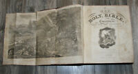 1832 LARGE antique family Holy Bible  illustrated