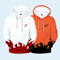 Naruto0 Hokage Ninjia Hoodie Cosplay Costume Hooded Pullover Sweater Coat