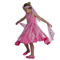 Child Girl's Jolie Actress Belly Dancer Halloween Costume Pink Dress Headband S