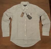 Polo Ralph Lauren Pony Mens Navy / White Striped Poplin Long Sleeve Shirt