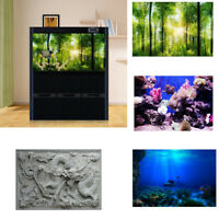 3D Effect PVC Background Aquarium Ocean Landscape Poster Fish Tank Background
