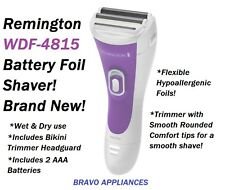 NEW!! Remington Wet & Dry Cordless Twin Foil Shaver with Bikini Trimmer WDF-4815
