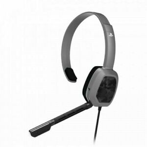 PDP LVL 1 Chat Headset for PS4 Gray Camo box damage (5d)
