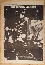 Flying Lagartos Debut Álbum 1980 EDICIÓN anuncio completo Páginas 37 x 27cm