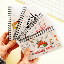 """""""Rice Roll"""" 1pc Weekly Planner Notebook Coil Sprial Cute Study Agenda Scheduler"""