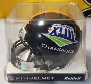 Pittsburgh Steelers SUPER BOWL XL CHAMPION Riddell NFL Mini Football Helmet..NEW