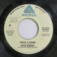 Rock Promo 45 Rick Danko - What A Town / What A Town On Arista