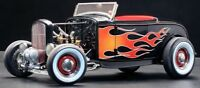 1:18 Gmp / Acme A1804002 - 1929 Ford Hot Rod Black With Flames