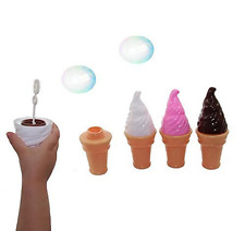 Dazzling Toys Yummy Ice Cream Bubbles Contains Bubble Solution 4 Pack, New