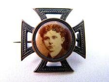 Amulett Eiserner Kreuz Medaillon Foto Brosche mit Portrait 1.Weltkrieg