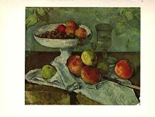 "1963 Vintage CEZANNE ""STILL LIFE WITH COMPOTIER"" COLOR offset Art Lithograph"