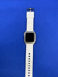 Pebble Time  Arctic White Classic Buckle -(501-00021) (Buttons Stick)