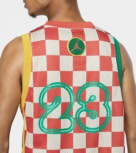 Jordan Sport DNA Men's Jersey CK9525-631 Track Red/Lucky Green/Dark Sulfur $100