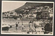 Postcard Fish Hoek Beach in Cape Town South Africa a Sunny Cove dated 1944 RP
