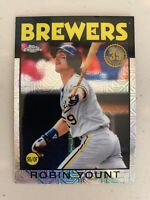 Robin Yount 2021 Topps Silver Pack CHROME 1986 35th Anniversary Brewers SP