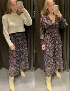 ZARA LONG PRINTED DRESS BLOGGERS FAVE SOLD OUT