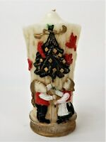 """Vintage Christmas Candle Mr. and Mrs. Clause Candle Pillar 8.5"""""""