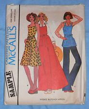 McCall's Vintage 1976 Sample Misses Butcher Style Aprons Uncut All Sizes