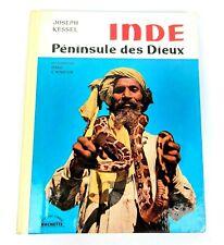 ANTICO LIBRO Inde peninsule des dieux (French) book ,1960 by Joseph Kessel Raro
