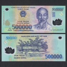 1/2 MILLION VIETNAMESE DONG CURRENCY (VND) - (1) 500,000 Banknote -FAST DELIVERY