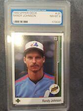 1989 Upper Deck Randy Johnson Rookie Card #25, Prograding Certified 8-NMMT,