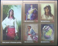 Romania 2014 - Gypssy in Romanian paintig,1 M/Sh, MNH, RO 0011