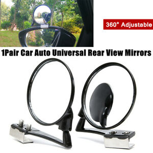 2X 360° Rotation Adjust Car Blind Spot Side Mirror Wide Angle Lens View Mirrors