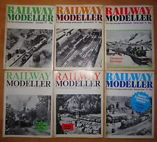 Railway Modeller 1976 5 Issues Jan, Feb, Mar, Jun & Aug