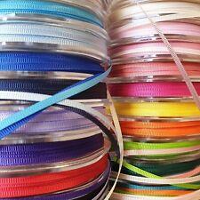 Premium Quality Grosgrain Ribbon 3mm Solid Plain Narrow Thin Cut Per 1 Metre