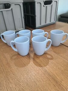 Corelle Coordinates Country Cottage Light Blue Coffee Mugs Set of 6 Excellent