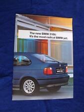 BMW 318ti DEALER SALES BROCHURE 1994 LUXURY CAR SPECIFICATIONS
