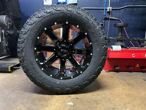 "20x10 ION 141 35"" MT Black Wheels Rims & Tire Package 8x6.5 Dodge Ram 2500 3500"