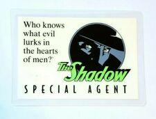 VINTAGE 1993 THE SHADOW SPECIAL AGENT MOVIE PROMO ID CLUB CARD ALEC BALDWIN PULP