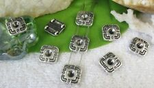 50pcs Tibetan silver square 2 holes spacer bead FC10372