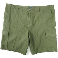 "Tommy Bahama Mens Key Isle Cargo Shorts Size 44 Green Cotton 10"" Inseam"
