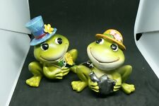 A Pair Of Beautiful Delton Company Frogs 1 Boy One Girl Very Cute Pair Ltbx