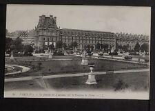535-PARIS -46 Le Jardin des Tuileries vers le Pavillon de Flore.