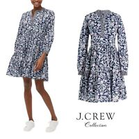NEW J Crew Women's Floral Tiered Mixed Printed Dress Size Medium