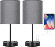 2pack Bedside Nightstand Lamp with USB Charging Ports and...