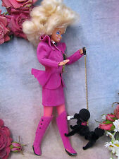 1992 BARBIE doll CAROL SPENCER classique collection COMPLETE OUTFIT clothing DOG