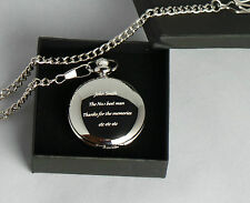 Godparent Gifts Silver Plated Personalised Pocket Watch Gift Box Christening