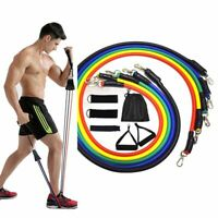 11 Pcs Resistance Bands Set Fitness Bands Resistance Gym Equipment Exercise Band