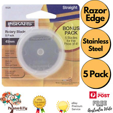 Fiskars 45mm Rotary Cutter Replacement Blades x 5 - Stainless Steel, Razor Edge
