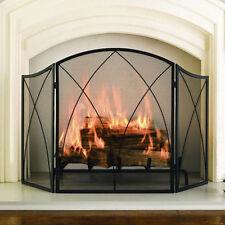 CHALEUR PROMINENT FIRESCREEN/Screen Wrought Iron Spiral Arch 3 Panel fireplace