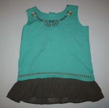 NUEVO Hanna ANDERSSON Verde FRUNCIDO pantalones vestido túnica camisa talla 140