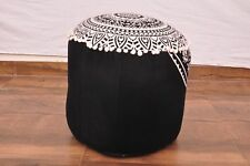 """22"""" New Indian Cotton Deer Mandala Large Pouf Cover Ottoman Foot Stool Cover Art"""