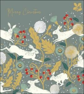Charity Christmas Cards Pack Of 5 National Trust Harmony White Hares